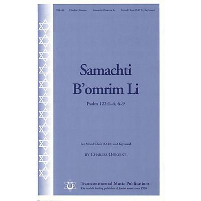 Transcontinental Music Samachti b'omrim Li SATB composed by Charles Osborne