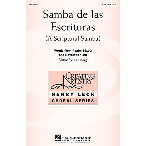 Hal Leonard Samba de las Escrituras 3 Part Treble composed by Ken Berg