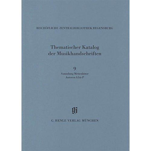 G. Henle Verlag Sammlung Mettenleiter, Autoren A bis P Henle Books Series Softcover
