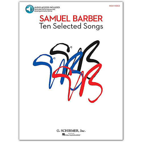 G. Schirmer Samual Barber - Ten Selected Songs High Voice Book/Online Audio