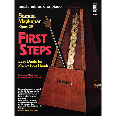 Music Minus One Samuel Maykapar - First Steps, Op. 29 Music Minus One Series Softcover with CD