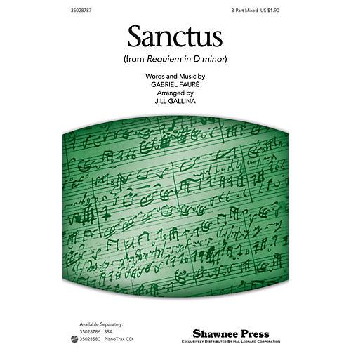 Shawnee Press Sanctus SAB arranged by Jill Gallina