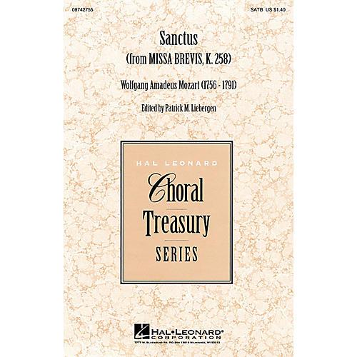 Hal Leonard Sanctus (from Missa Brevis, K. 258) SATB arranged by Patrick M. Liebergen