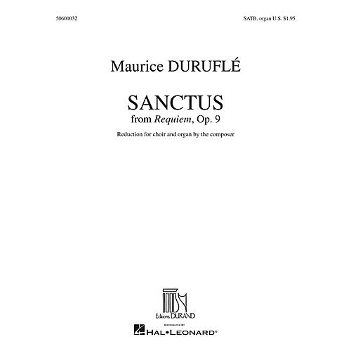 Editions Durand Sanctus (from Requiem) SATB, Organ composed by Maurice Duruflé