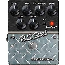Open Box Tech 21 SansAmp Character Series U.S. Steel Distortion Guitar Effects Pedal
