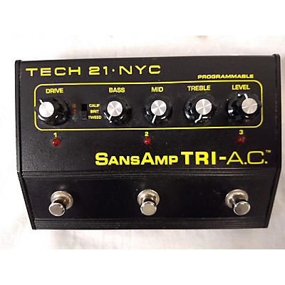 Tech 21 SansAmp Tri AC Distortion Effect Pedal