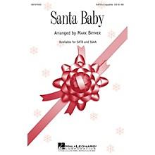 Hal Leonard Santa Baby SATB a cappella