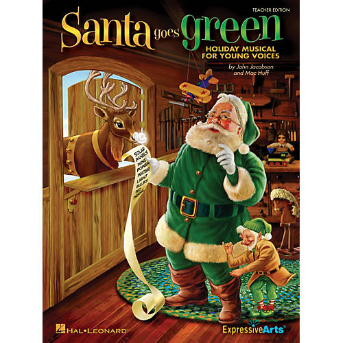Hal Leonard Santa Goes Green (Holiday Musical for Young Voices) Singer 5 Pak Composed by John Jacobson