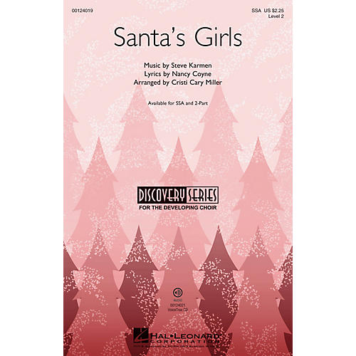 Hal Leonard Santa's Girls (Discovery Level 2) VoiceTrax CD Arranged by Cristi Cary Miller