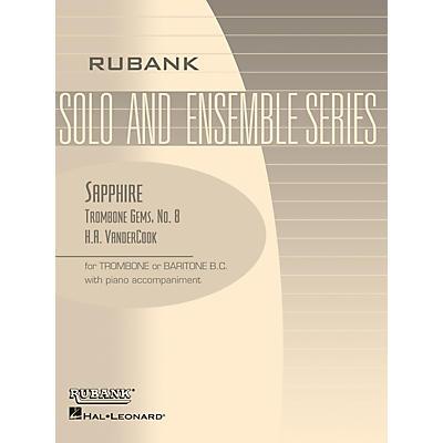Rubank Publications Sapphire (Trombone (Baritone B.C.) Solo with Piano - Grade 3) Rubank Solo/Ensemble Sheet Series