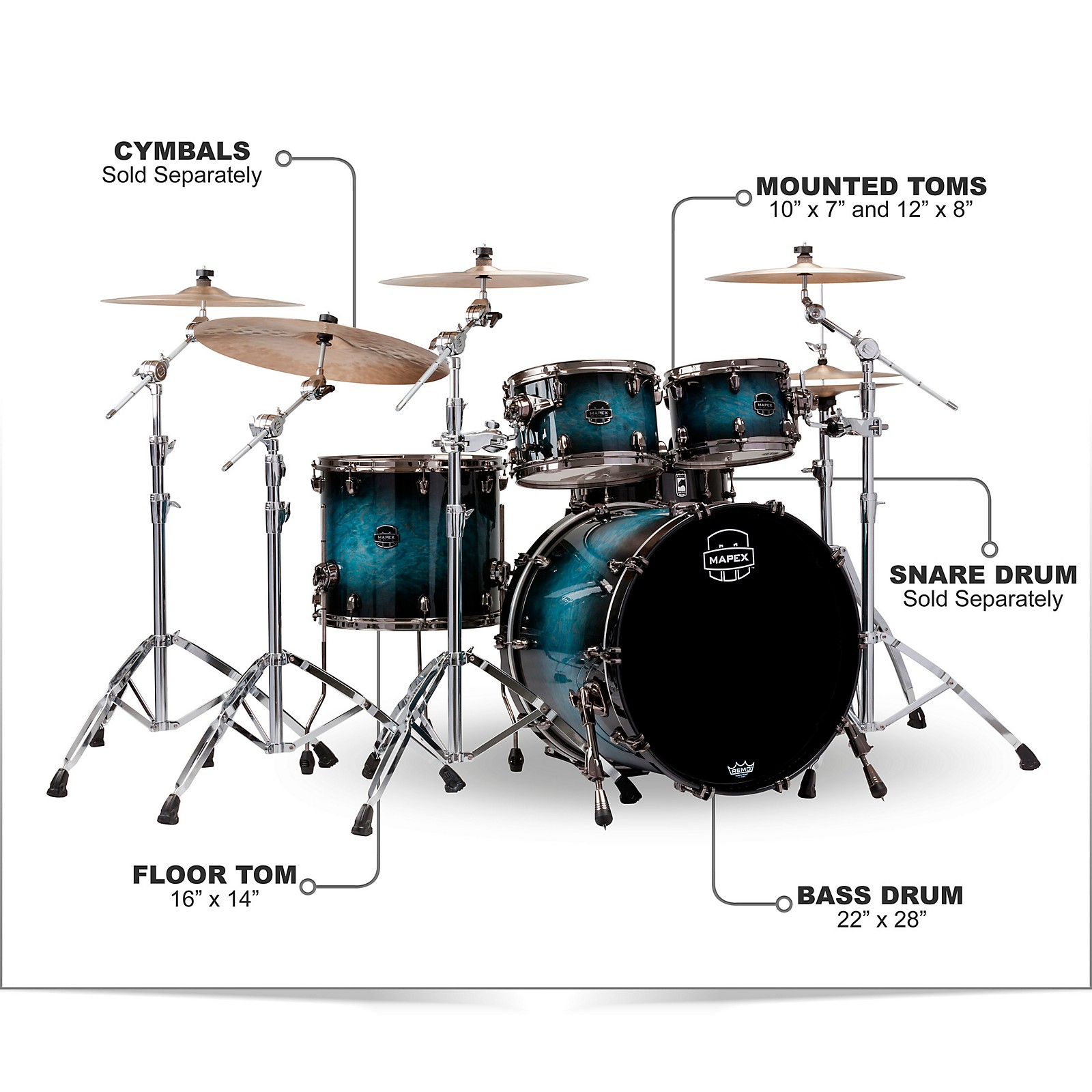 Mapex Saturn V Exotic Edition 4-Piece Rock Shell Pack