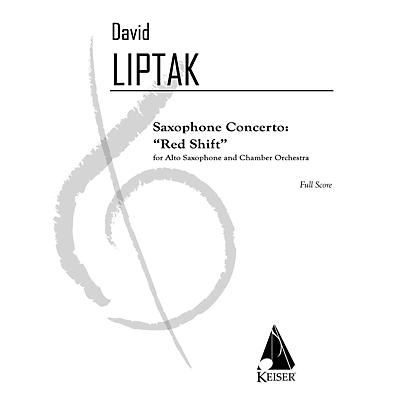 Lauren Keiser Music Publishing Saxophone Concerto: Red Shift LKM Music Series  by David Liptak