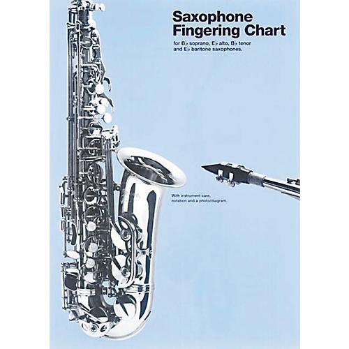 Music Sales Saxophone Fingering Chart