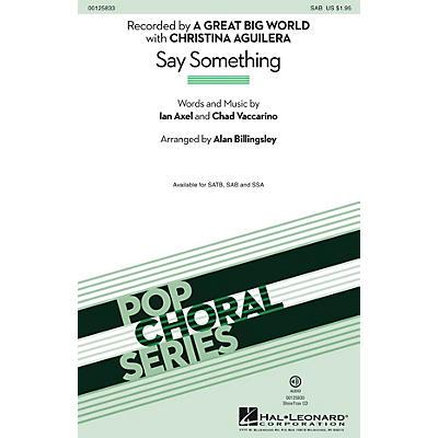 Hal Leonard Say Something SAB