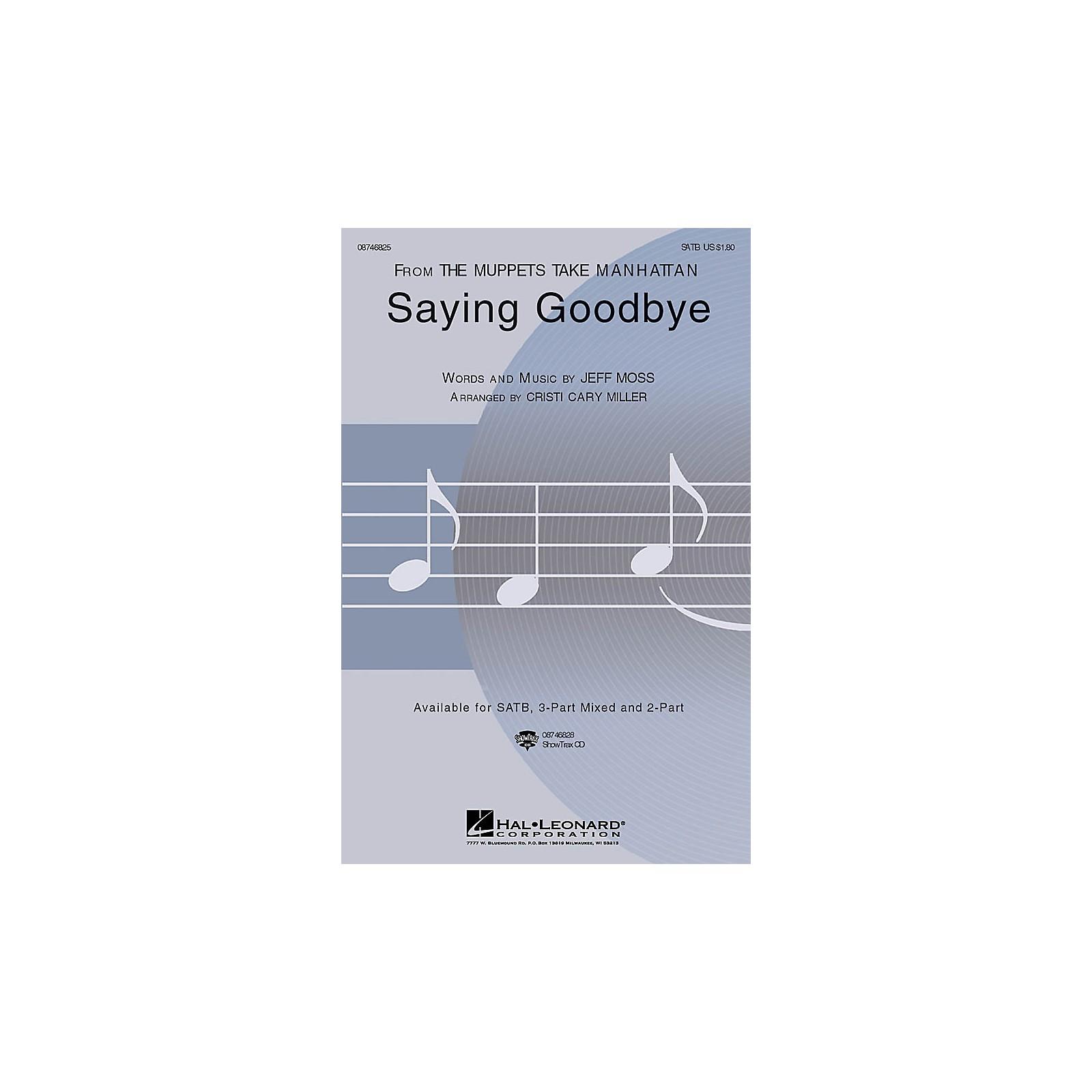 Hal Leonard Saying Goodbye SATB arranged by Cristi Cary Miller