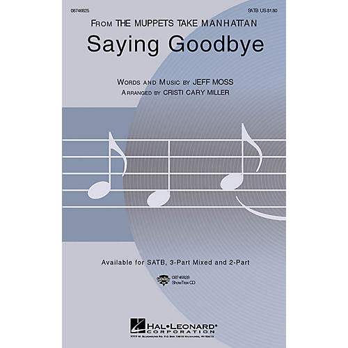 Hal Leonard Saying Goodbye SATB arranged by Cristi Cary Miller