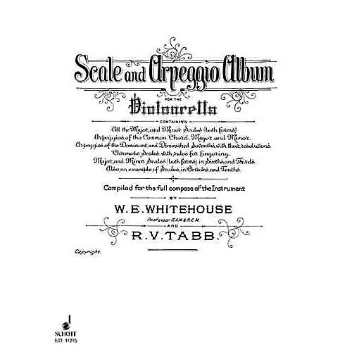 Schott Scale and Arpeggio Album (Cello) Schott Series Composed by R.V. Tabb