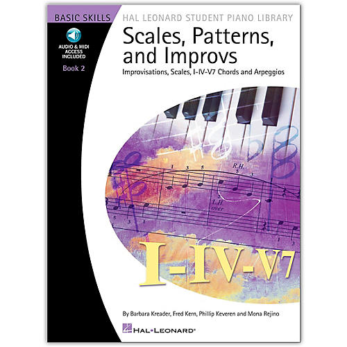 Hal Leonard Scales Patterns And Improvs  2 - Hal Leonard Student Piano Library Book/Online Audio