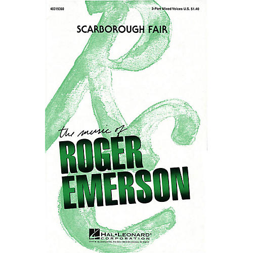 Hal Leonard Scarborough Fair 3-Part Mixed arranged by Roger Emerson