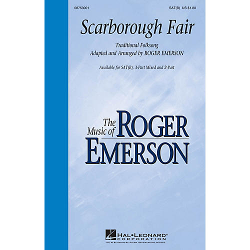 Hal Leonard Scarborough Fair SAT(B) arranged by Roger Emerson