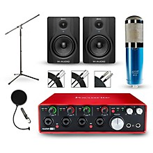 Focusrite Scarlett 18i8 2nd Gen Interface with MXL 4000 and M-Audio BX5 Pair