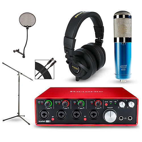 focusrite scarlett 18i8 2nd gen interface with mxl 4000 and marantz mph 2 musician 39 s friend. Black Bedroom Furniture Sets. Home Design Ideas