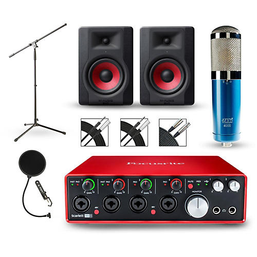 Focusrite Scarlett 18i8 Recording Package with MXL 4000 and M-Audio Limited Edition BX5 Pair