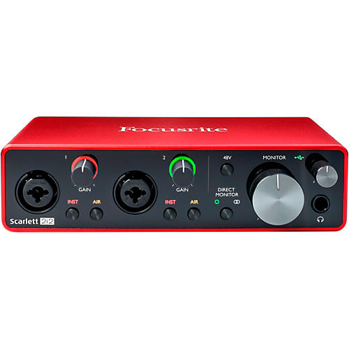 Focusrite Scarlett 2i2 USB Audio Interface (Gen 3)