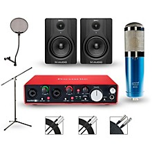 Focusrite Scarlett 2i4 Recording Package with MXL 4000 and M-Audio BX5 Pair
