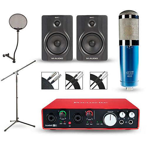 Focusrite Scarlett 6i6 Recording Package with MXL 4000 and M-Audio BX5 Pair
