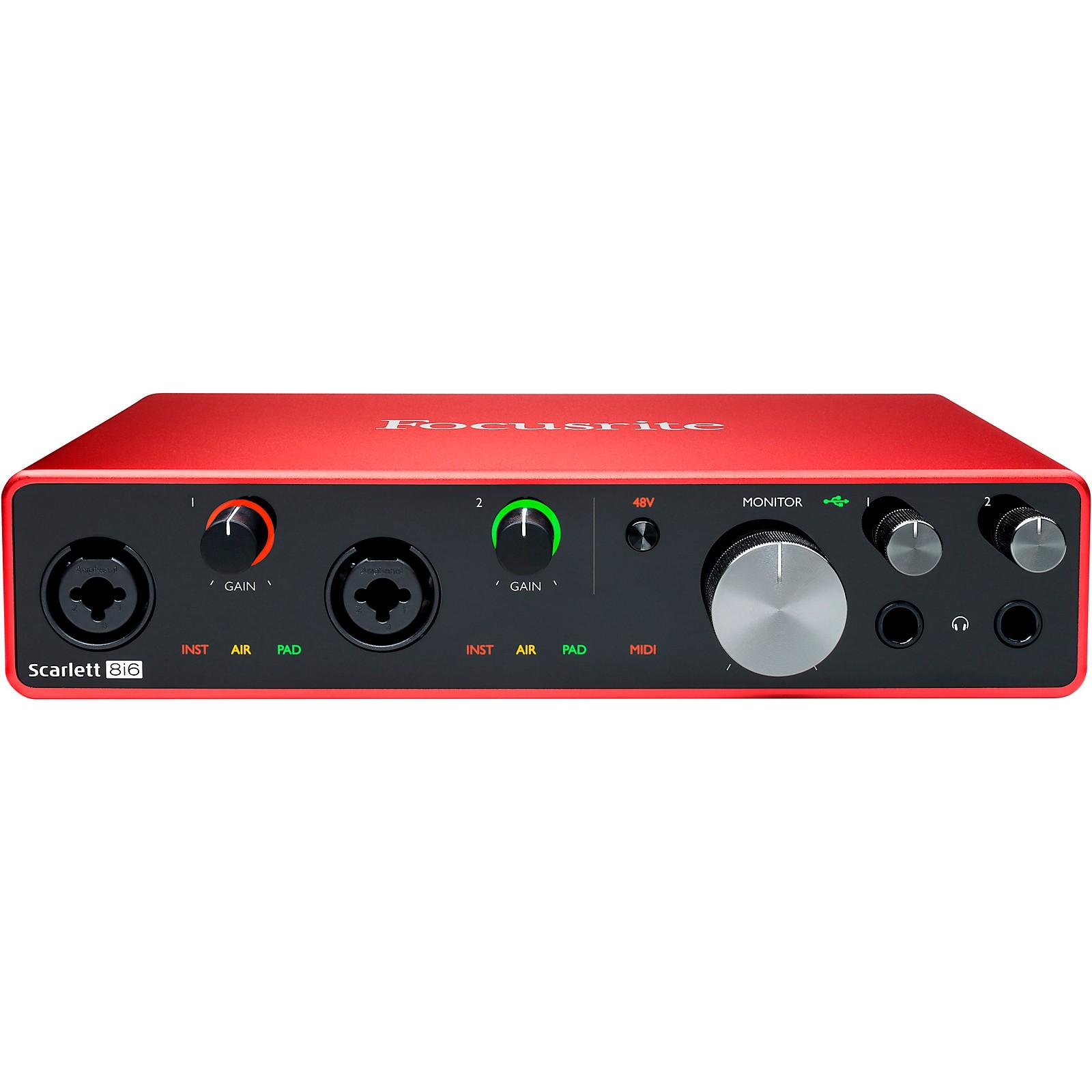 Focusrite Scarlett 8i6 USB Audio Interface (Gen 3)