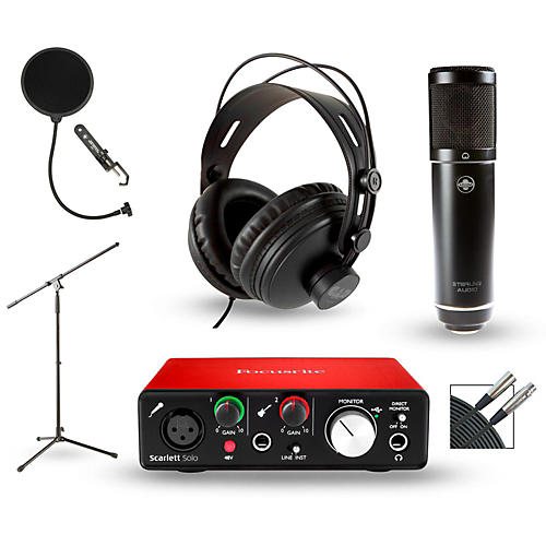 Focusrite Scarlett Solo 2nd Gen Interface with Sterling ST51 and CAD MH300