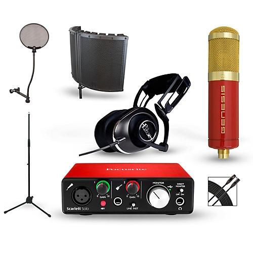 Focusrite Scarlett Solo Recording Package with MXL Genesis and BLUE Lola