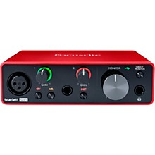 Open Box Focusrite Scarlett Solo USB Audio Interface (Gen 3)