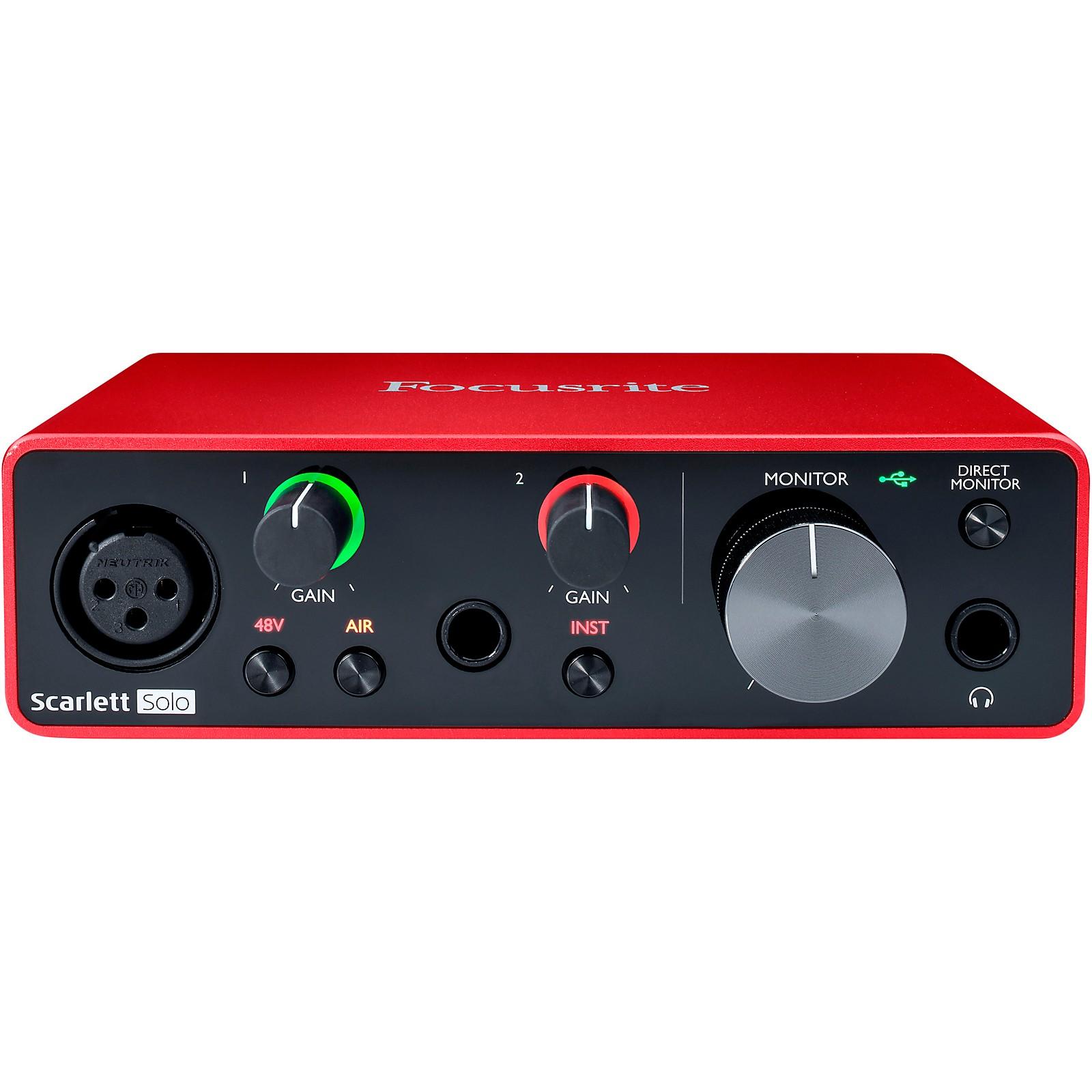 Focusrite Scarlett Solo USB Audio Interface (Gen 3)
