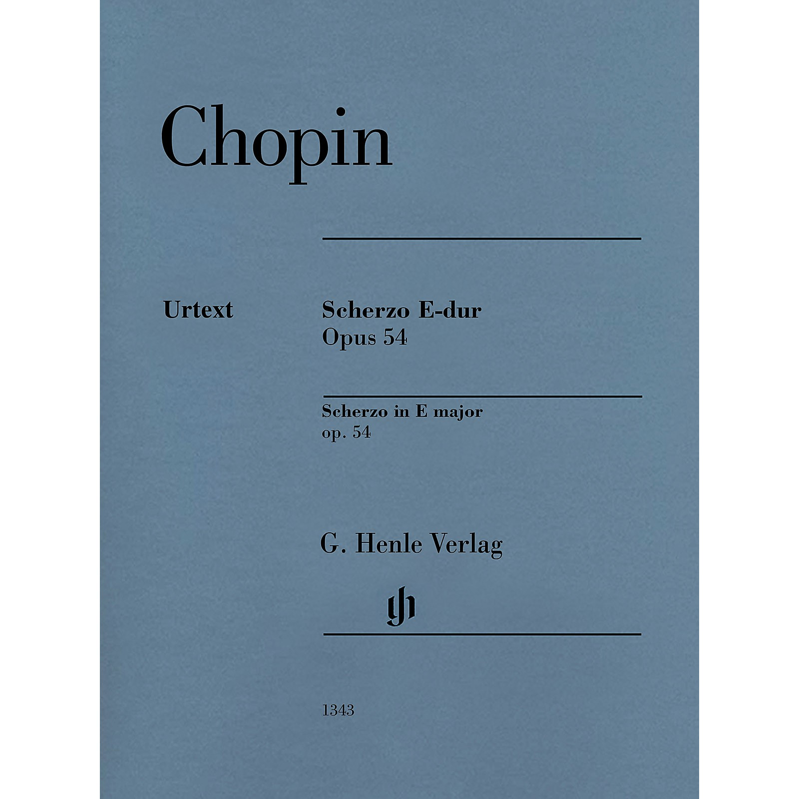 G. Henle Verlag Scherzo E Major Op. 54 for Piano Solo - Henle Music