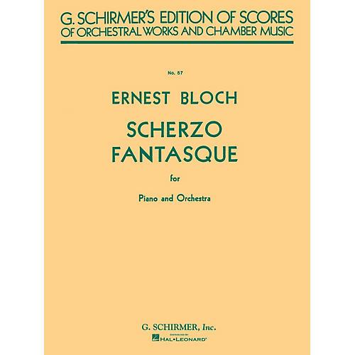G. Schirmer Scherzo Fantasque (Study Score No. 57) Study Score Series Composed by Ernst Bloch