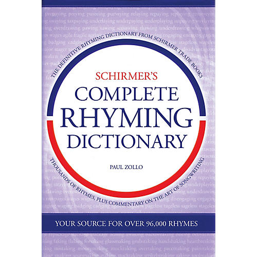 Omnibus Schirmer's Complete Rhyming Dictionary Omnibus Press Series Hardcover