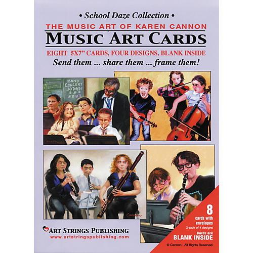Art Strings School Daze Greeting Cards 8-Pack