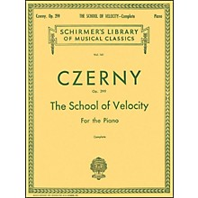 G. Schirmer School Of Velocity Complete Op 299 for The Piano By Czerny