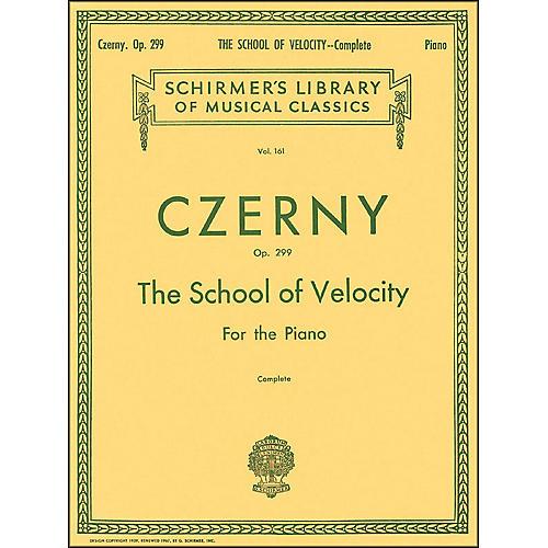 G. Schirmer School Of Velocity Complete Op 299 for The Piano By Czerny