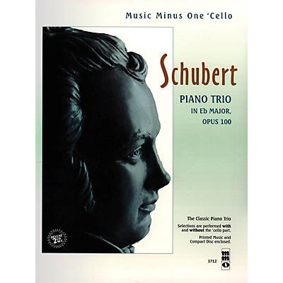 Music Minus One Schubert - Piano Trio in E-flat Major, Op. 100 Music Minus One Series Softcover with CD by Franz Schubert
