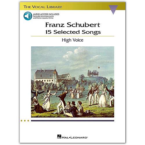 Hal Leonard Schubert: 15 Selected Songs for High Voice Book/Online Audio