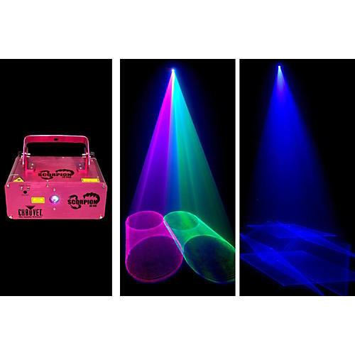 CHAUVET DJ Scorpion 3D RGB Laser with 3D patterns