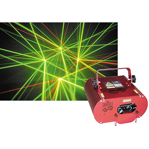 CHAUVET DJ Scorpion RG DMX Red and Green Laser Lighting Effect