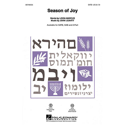 Hal Leonard Season of Joy SAB Composed by John Leavitt