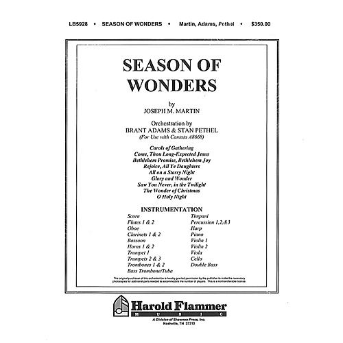 Shawnee Press Season of Wonders (Celebrating the Miracle of Christmas) Score & Parts composed by Joseph M. Martin