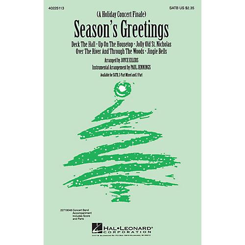 Hal Leonard Season's Greetings (Medley) 3-Part Mixed Arranged by Joyce Eilers