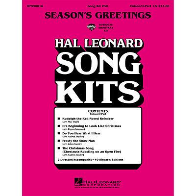 Hal Leonard Season's Greetings (Song Kit #38) UNIS/2PT Arranged by Various Arrangers