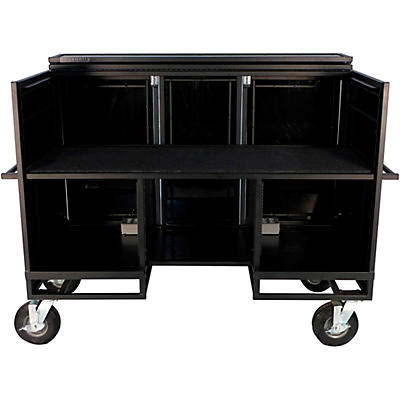 Pageantry Innovations Seated Synth/Mixer Combo Cart Stealth Series Upgrade w/ Bi-Fold Top Cover